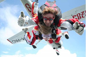 Tandemový zoskok z lietadla Ružomberok
